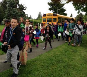 Roxhill students walking
