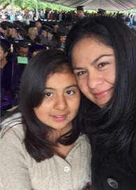 Alejandra Diaz and her daughter
