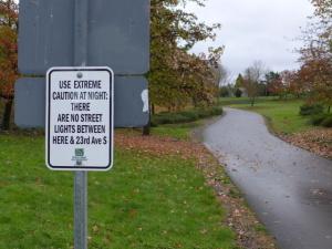 Sign at park