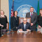 Gov. Jay Inslee signs Substitute Senate Bill No. 5957, May 11, 2015. Relating to the pedestrian safety advisory council.