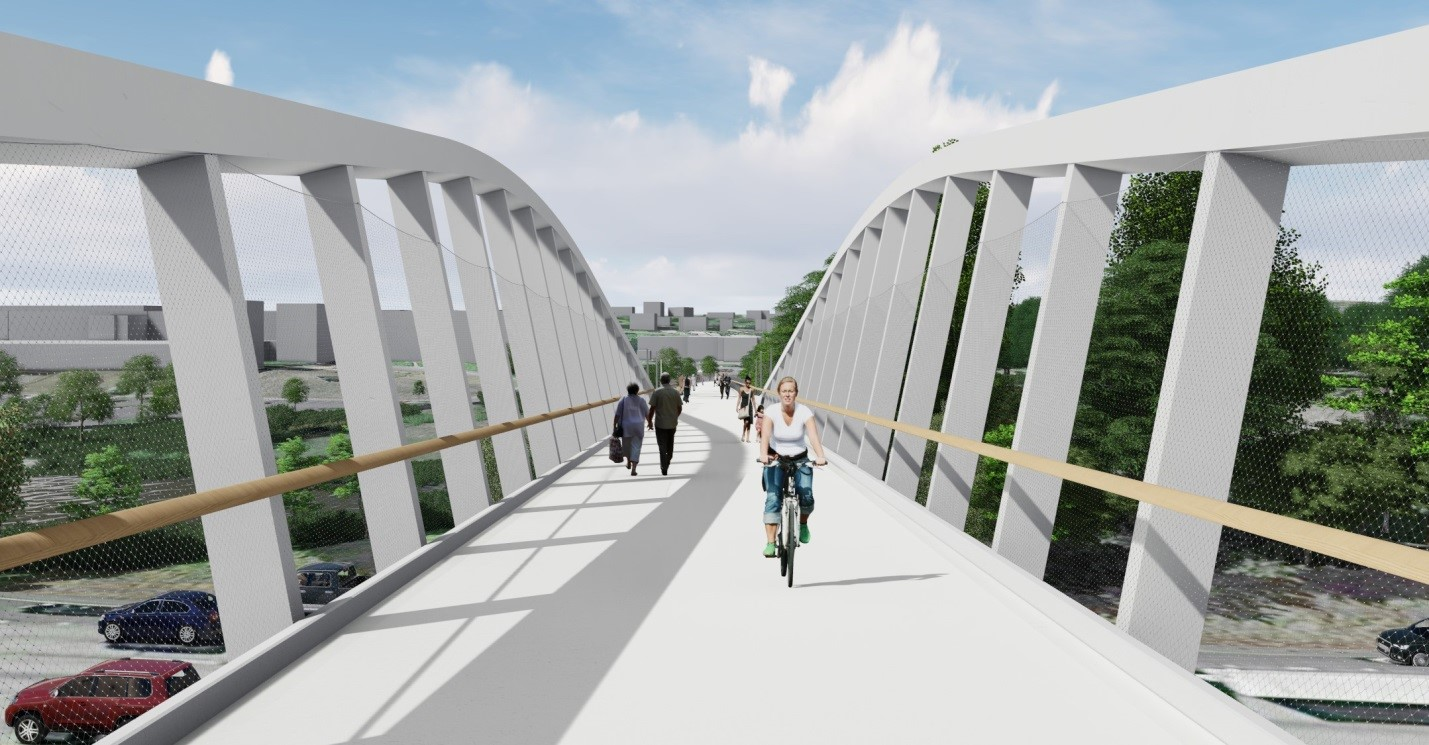 Northgate Pedestrian Bridge Rendering