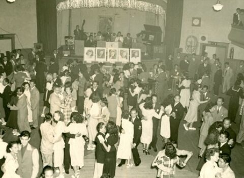 2nd floor ballroom from a Filipino-American dance in the 1940s
